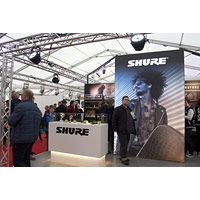 Messestand Shure